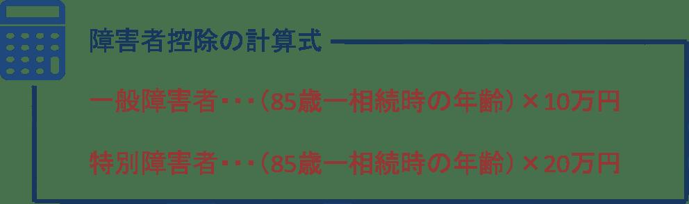 障害者控除の計算式