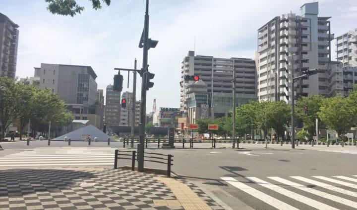 六甲道南公園近くの信号