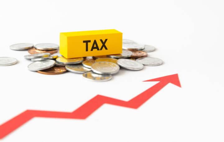 税金が上がってしまうイメージ